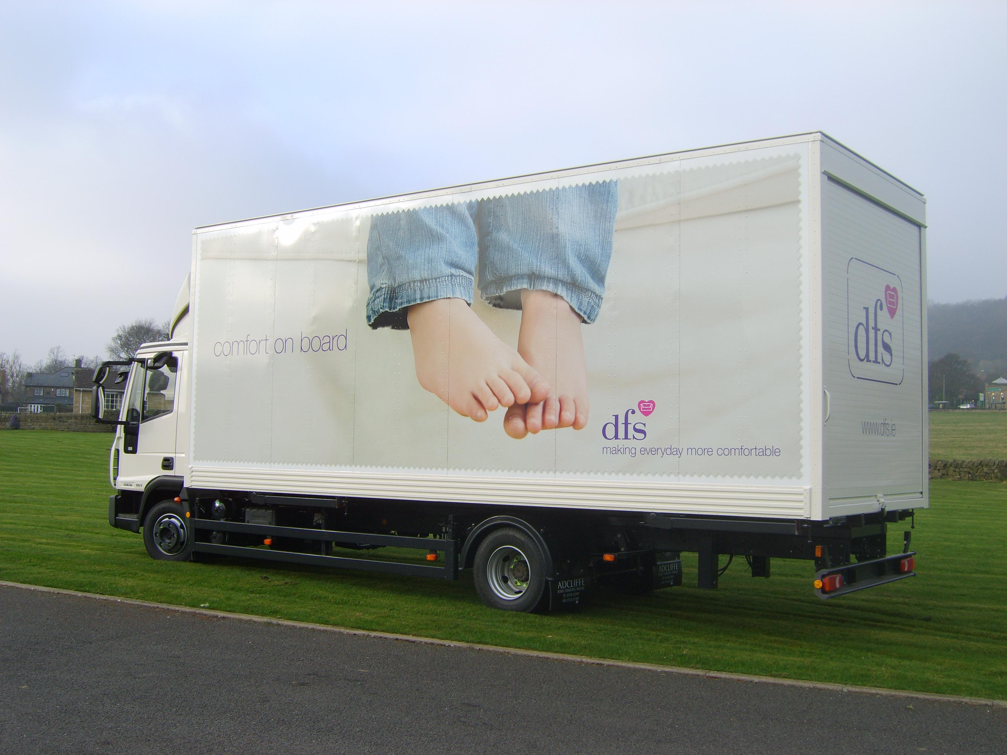 DFS truck wrap