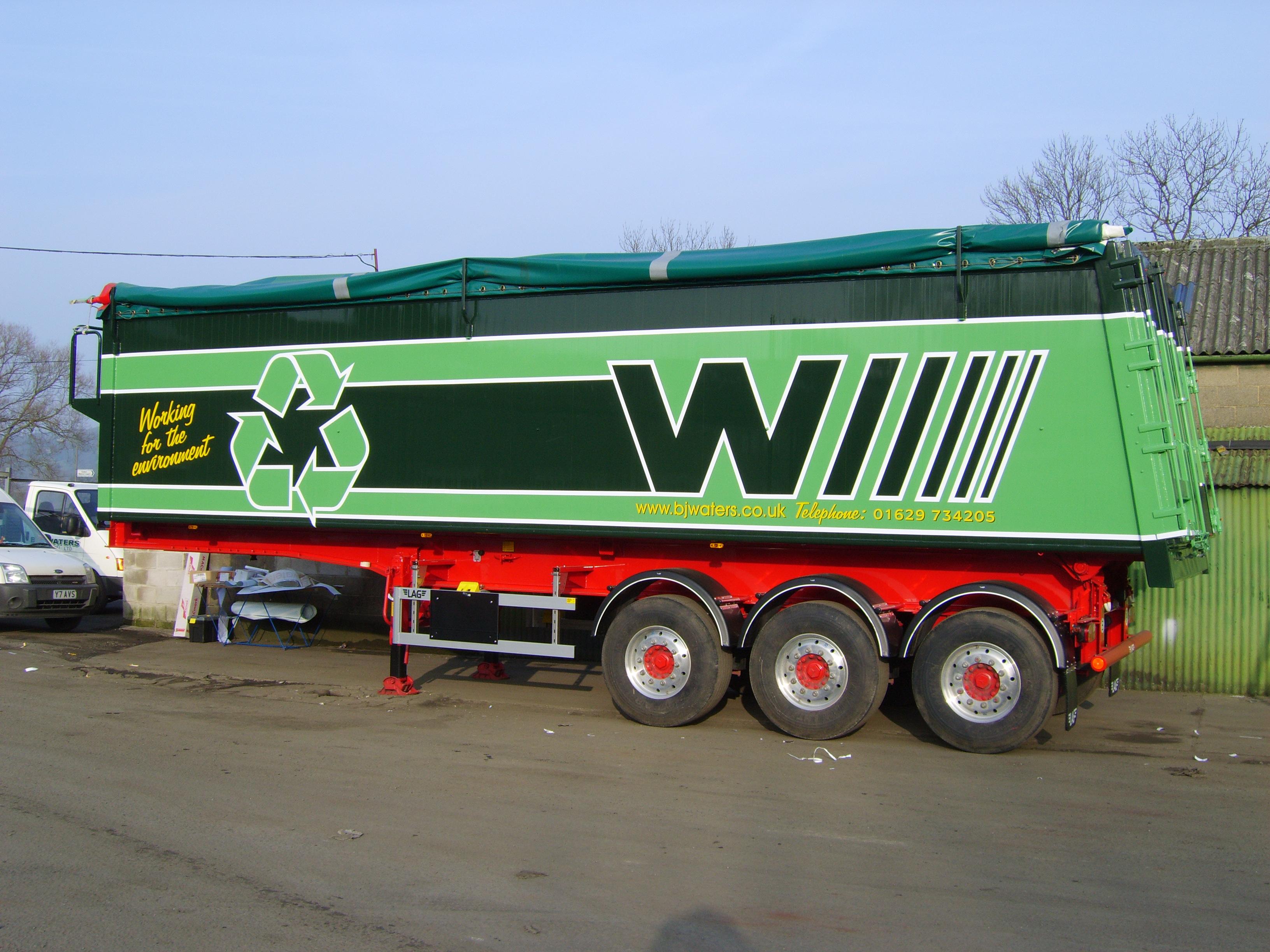 B J Waters Bulk trailer