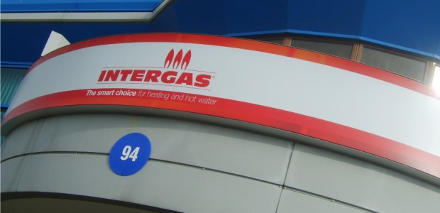 Curvaceous signage for Intergas